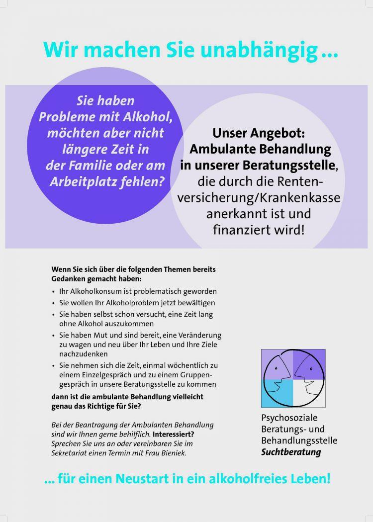 Ambulante Reha in Suchtberatung - Diakonie Schweinfurt